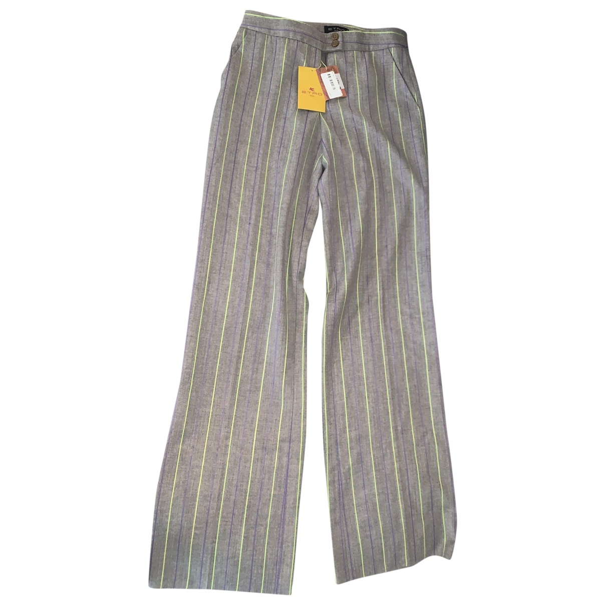 Etro \N Multicolour Wool Trousers for Women 42 IT