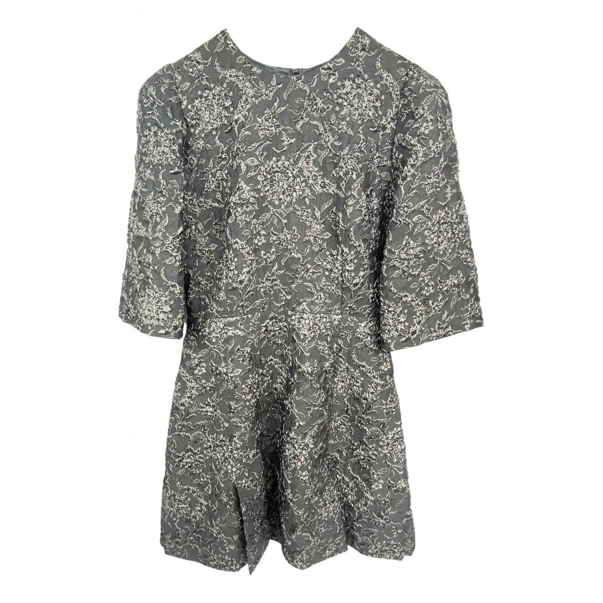 Dolce & Gabbana \N Kleid in  Grau Mit Pailletten