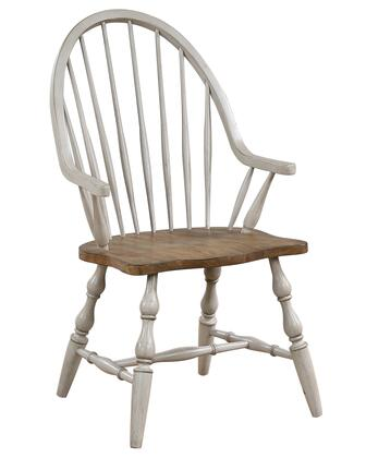 DLU-CG-C30A-GO Country Grove Windsor Dining Chair with Arms  in Distressed Gray and Brown