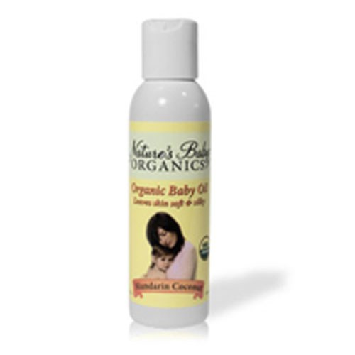 Organic Baby Oil Mandarin Coconut 4 oz by Nature's Baby Organics