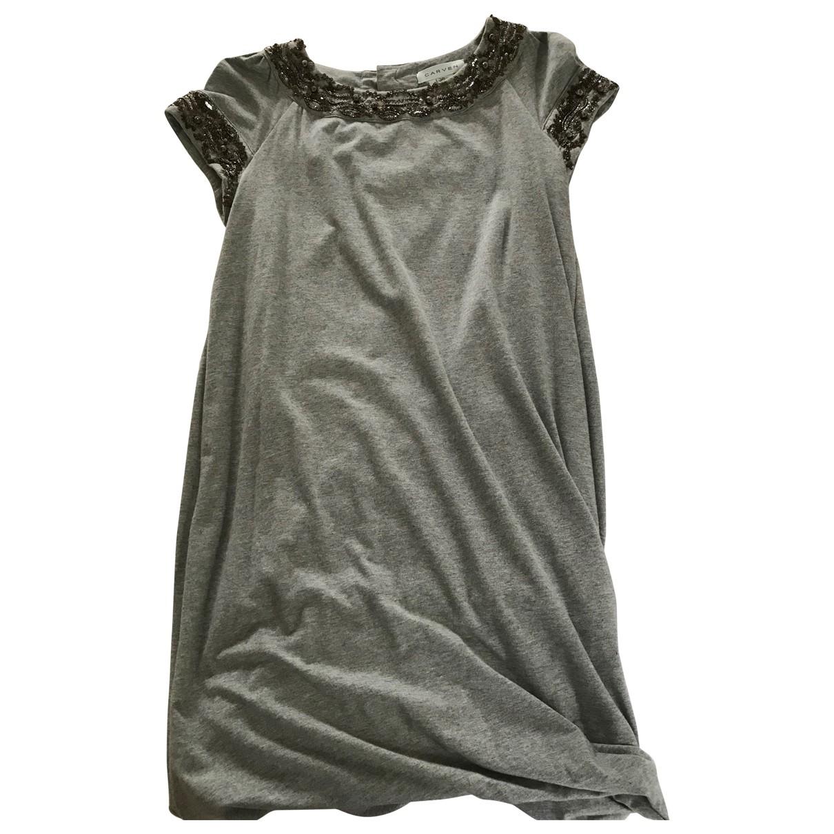 Carven \N Kleid in  Grau Baumwolle