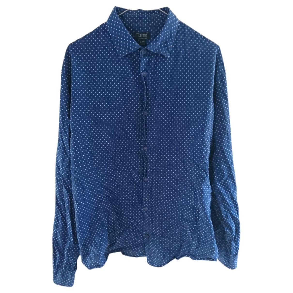 Armani Jean - Chemises   pour homme en coton - bleu