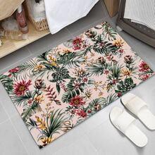 Bodenmatte mit Blumen Muster