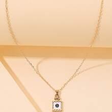 Halskette mit Nummer Design und geometrischem Dekor