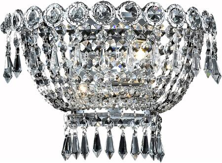 V1900W12C/SS 1900 Century Collection Wall Sconce D:12In H:6In E:7.5In Lt:2 Chrome Finish (Swarovski   Elements