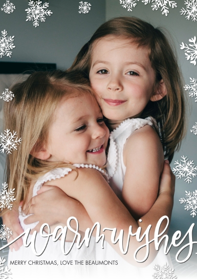 Christmas Photo Cards Flat Matte Photo Paper Cards with Envelopes, 5x7, Card & Stationery -Christmas Warm Wishes by Tumbalina