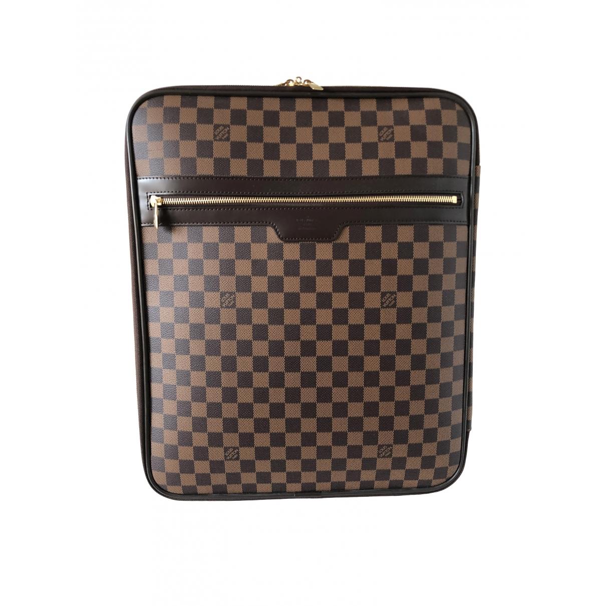 Louis Vuitton Pegase Reisetasche in  Braun Baumwolle