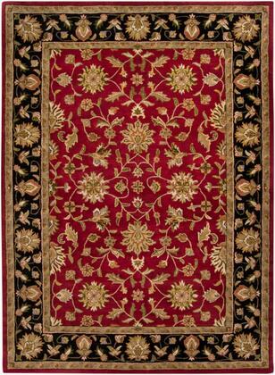 Crowne CRN-6013 12' x 15' Rectangle Traditional Rugs in Garnet  Black  Camel  Khaki  Clay  Charcoal  Dark Brown  Tan  Moss