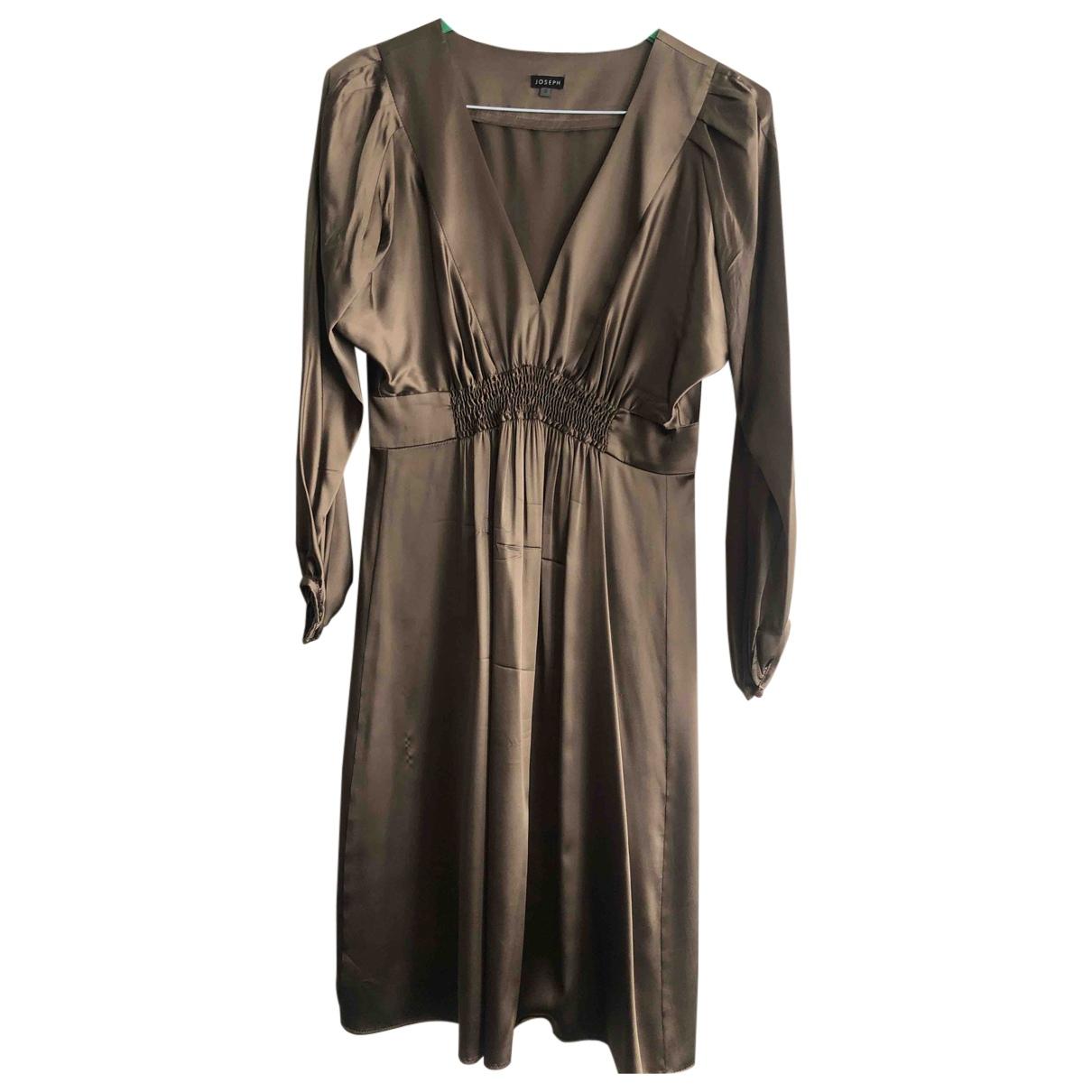 Joseph - Robe   pour femme en soie - dore