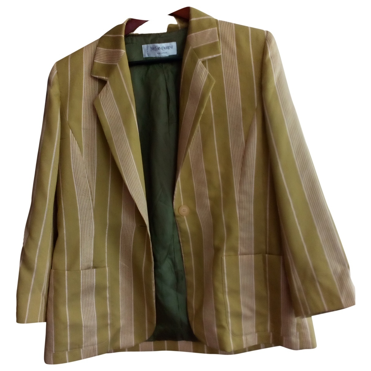 Yves Saint Laurent \N Khaki Silk jacket  for Men 42 FR