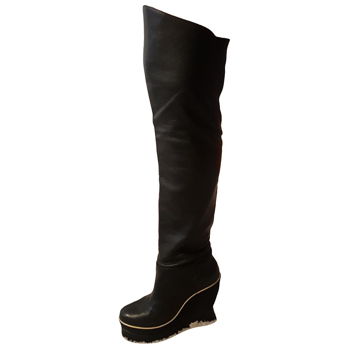 Paloma Barcelo \N Stiefel in  Schwarz Leder