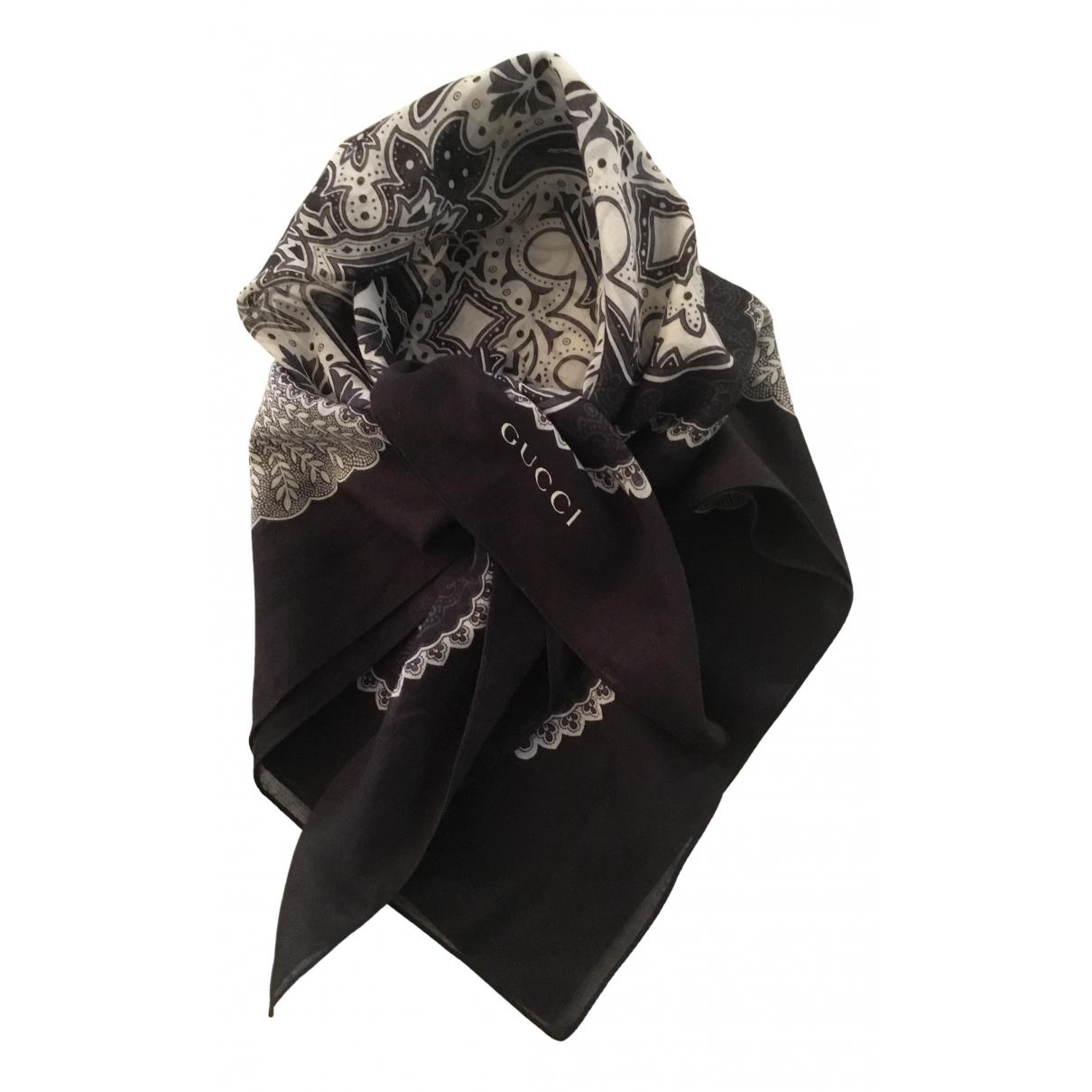 Gucci \N Schal in  Schwarz Baumwolle