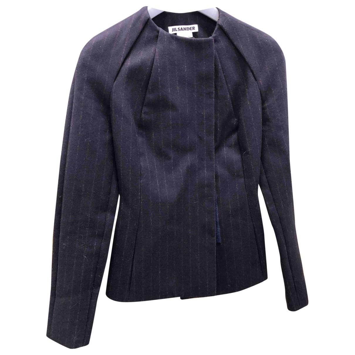 Jil Sander - Veste   pour femme en laine - bleu