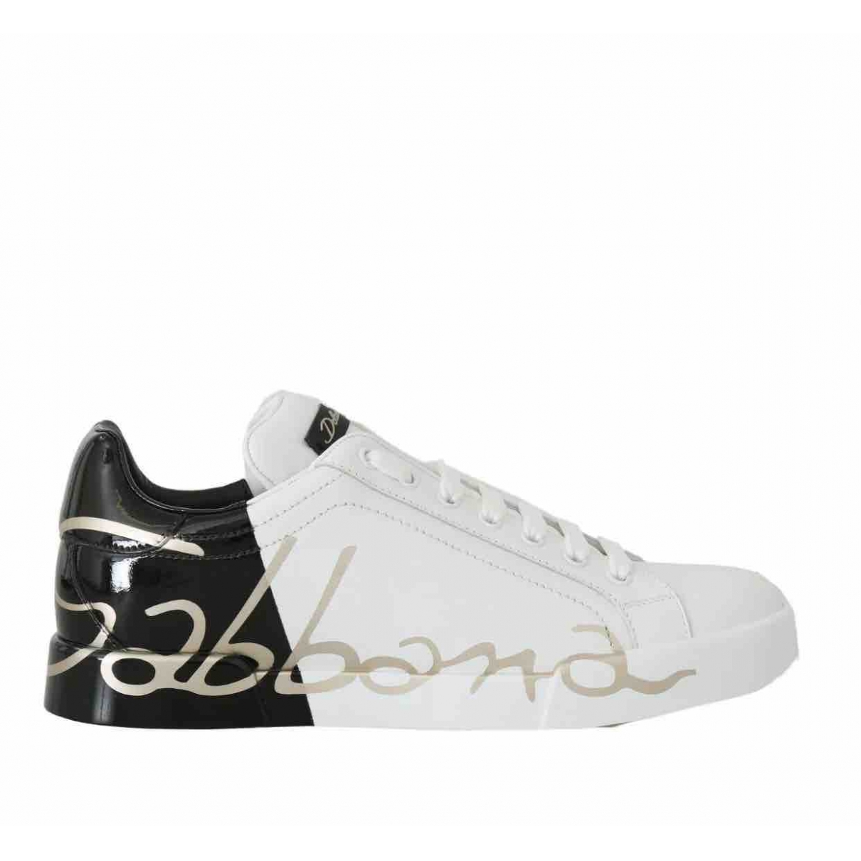Dolce & Gabbana \N White Leather Trainers for Women 37 EU