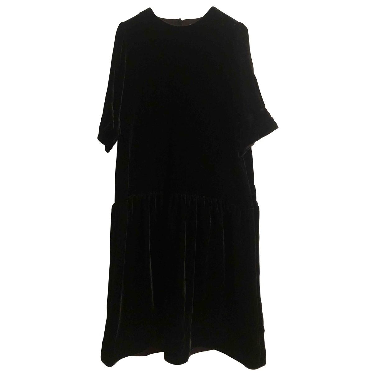 Arket - Robe   pour femme en soie - noir