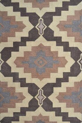 25653D 5 x 8 ft. Rajah 4 Area Rug  in Cream and