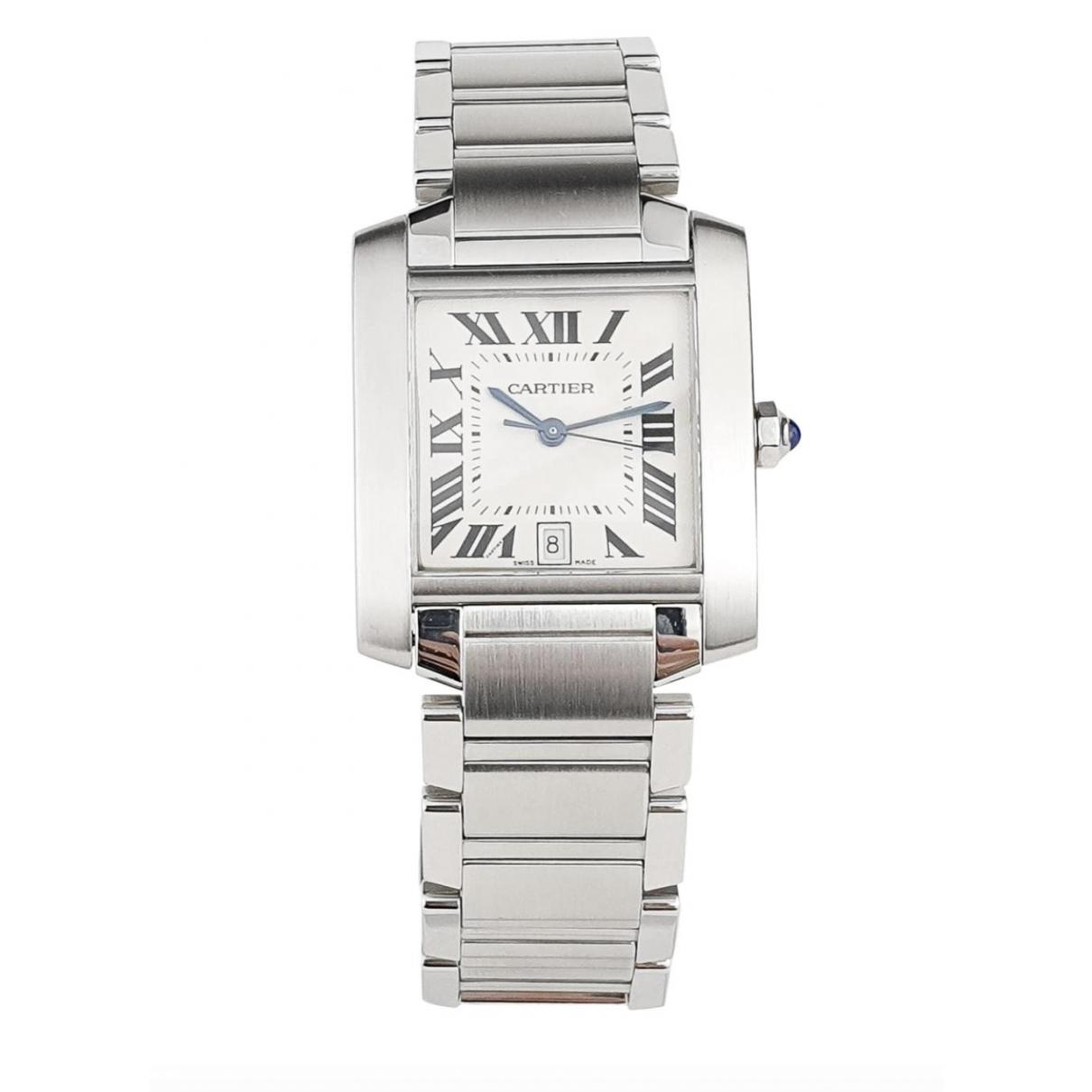Cartier Tank Française Silver Steel watch for Men \N