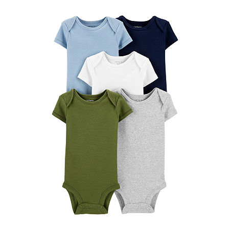 Carter's Little Baby Basic Baby Boys 5-pc. Bodysuit, 6 Months , Multiple Colors