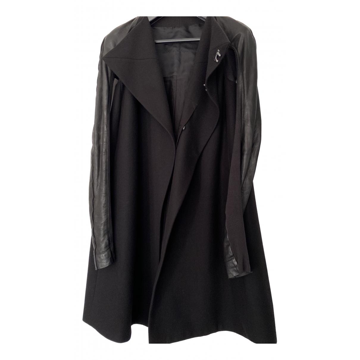 Rick Owens - Manteau   pour femme en laine - noir