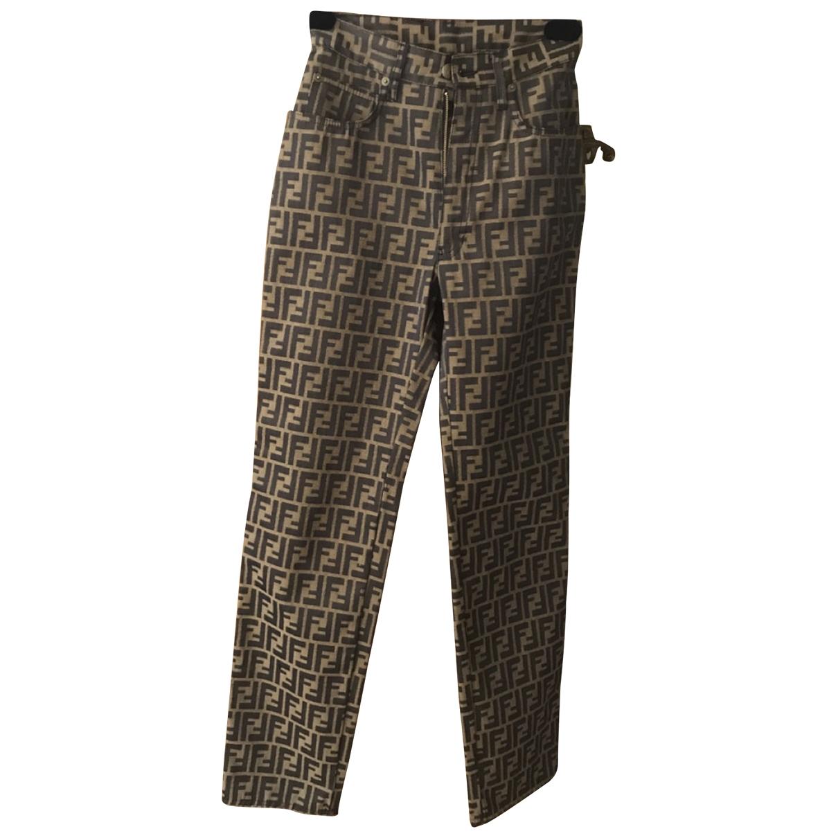 Fendi \N Trousers for Women 40 IT