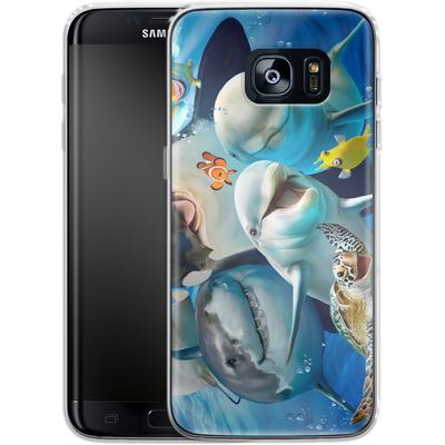 Samsung Galaxy S7 Edge Silikon Handyhuelle - Ocean Selfie von Howard Robinson
