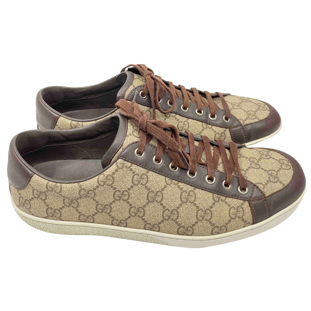 Gucci Ace Brown Leather Trainers for Men 10 UK