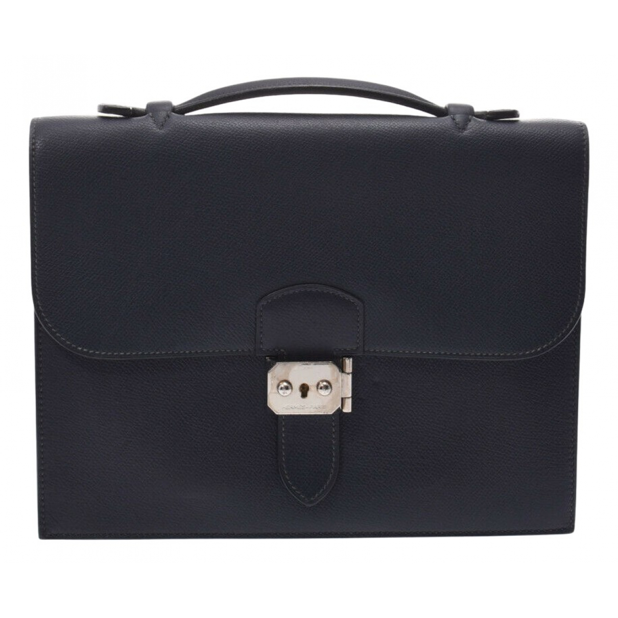 Hermès N Navy Leather handbag for Women N