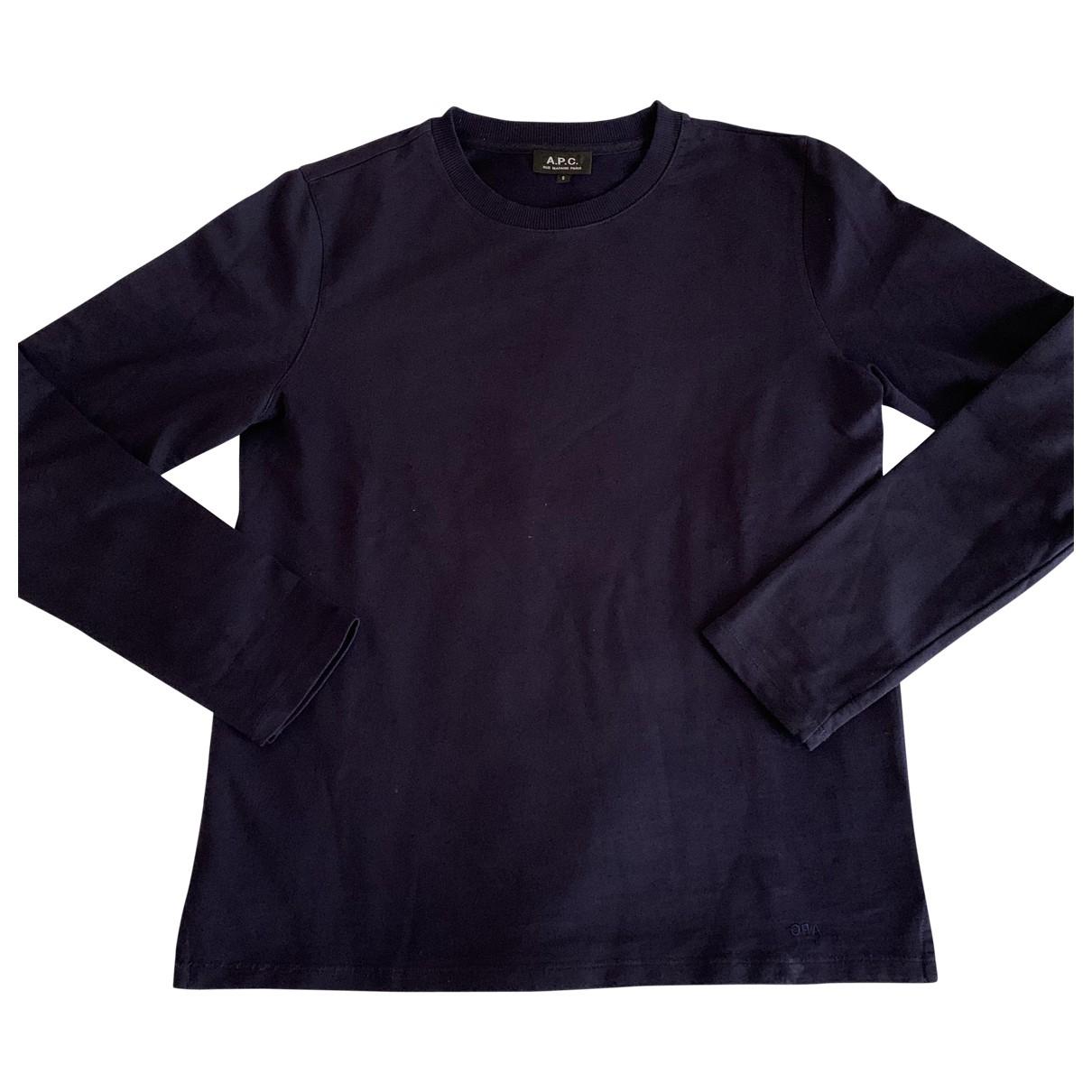 Apc \N Pullover.Westen.Sweatshirts  in  Marine Baumwolle