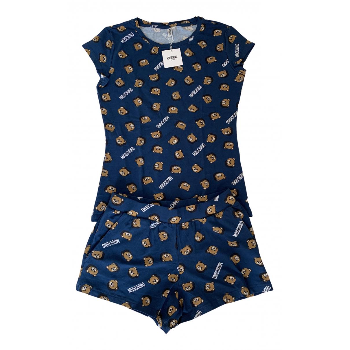 Moschino \N Jumpsuit in  Blau Baumwolle