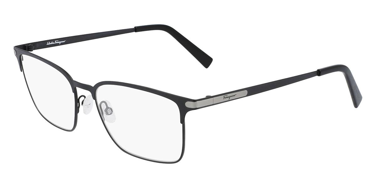 Salvatore Ferragamo SF2207 021 Men's Glasses Black Size 54 - Free Lenses - HSA/FSA Insurance - Blue Light Block Available