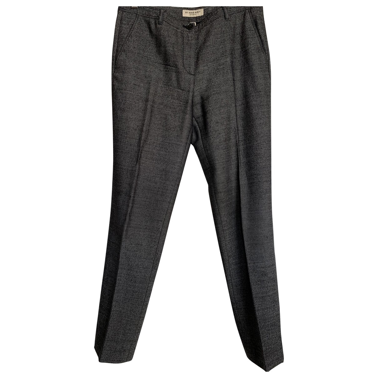 Burberry \N Grey Wool Trousers for Women 8 UK