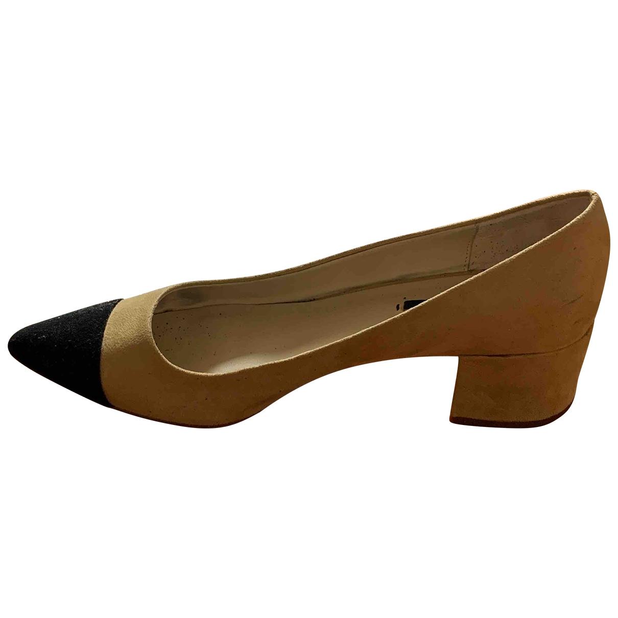 Zara \N Beige Suede Heels for Women 39 IT