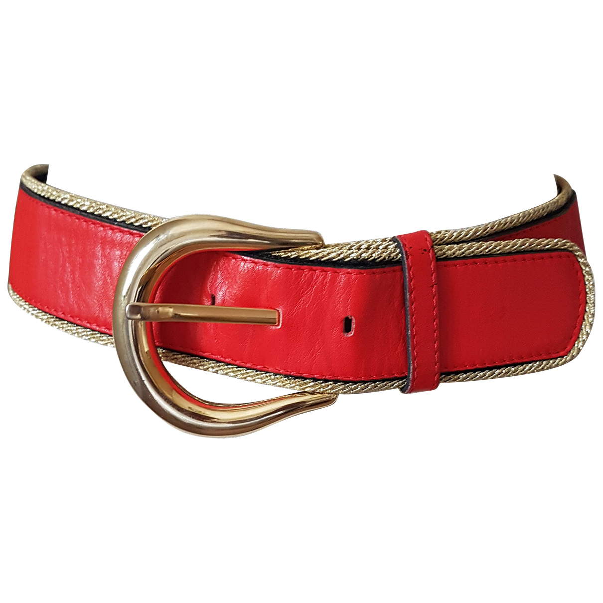 Yves Saint Laurent \N Guertel in  Rot Leder