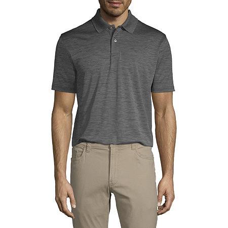 Van Heusen Air Polo Mens Cooling Short Sleeve Polo Shirt, Small , Gray
