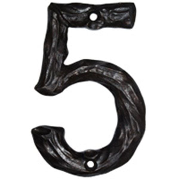 LHN5-N Log House Number 5, Nickel, 1 piece