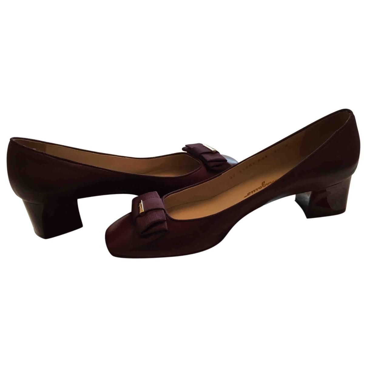 Salvatore Ferragamo \N Purple Leather Heels for Women 8.5 US