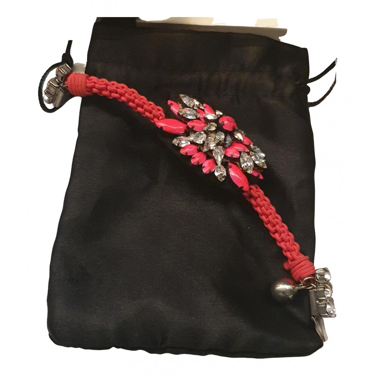 Shourouk \N Armband in  Rosa Kristall