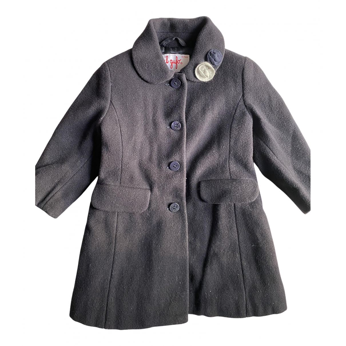 Il Gufo N Blue Wool jacket & coat for Kids 18 months - up to 81cm FR