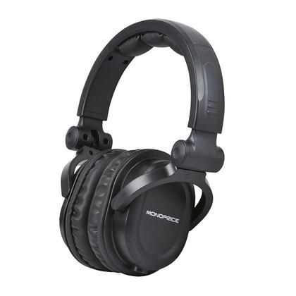 Premium Hi-Fi DJ Style Over-the-Ear Pro Headphones with Mic - Monoprice®