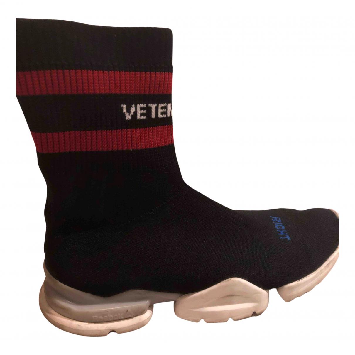 Reebok X Vetements \N Sneakers in  Schwarz Leinen