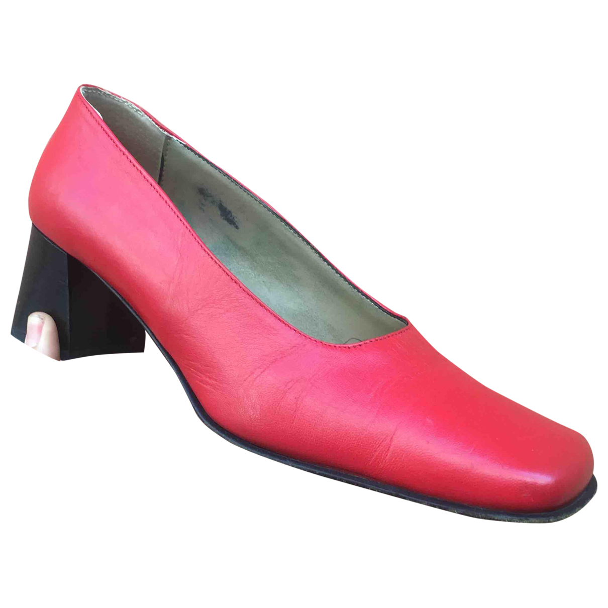 Non Signe / Unsigned Hippie Chic Pumps in  Rot Leder