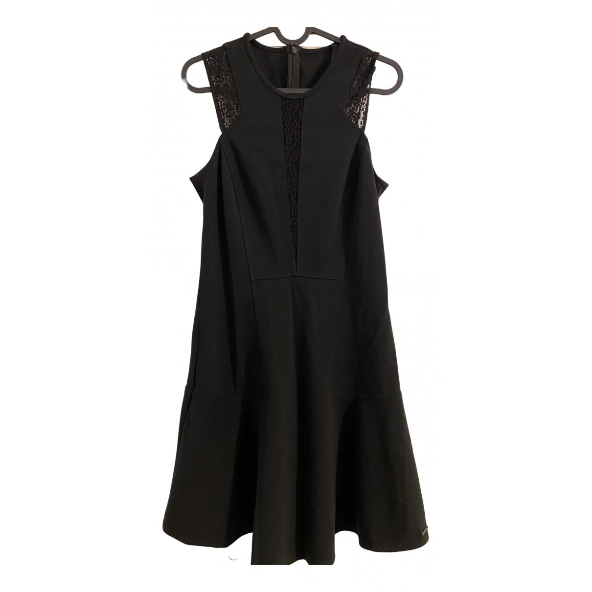 - Robe   pour femme en coton - elasthane - noir