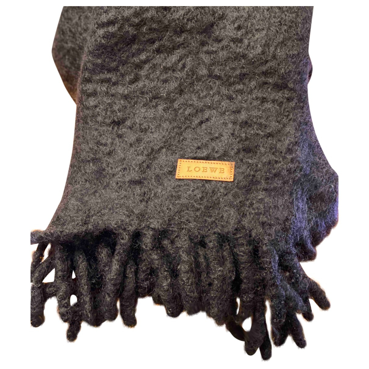 Loewe - Foulard   pour femme en laine - noir