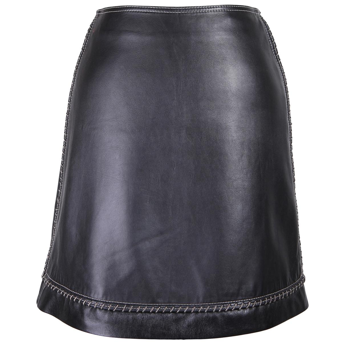 Gianni Versace - Jupe   pour femme en cuir - noir