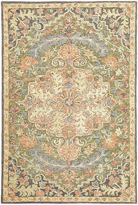 A28401244305ST 8' X 10' Rectangle Rug with Oriental Pattern and WoolFiber