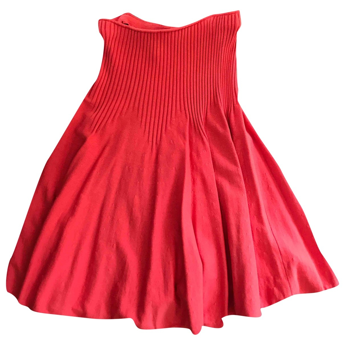 Malo \N Red Cotton skirt for Women 42 IT