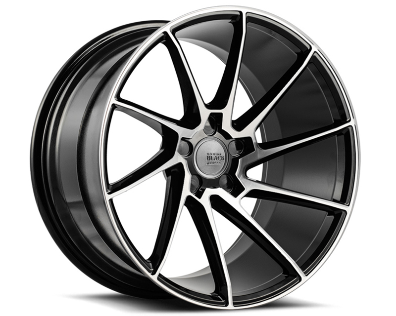 Savini BM15-19105520M2579R di Forza Machined Black with Black Lip BM15 Right Wheel 19x10.5 5x120 25mm