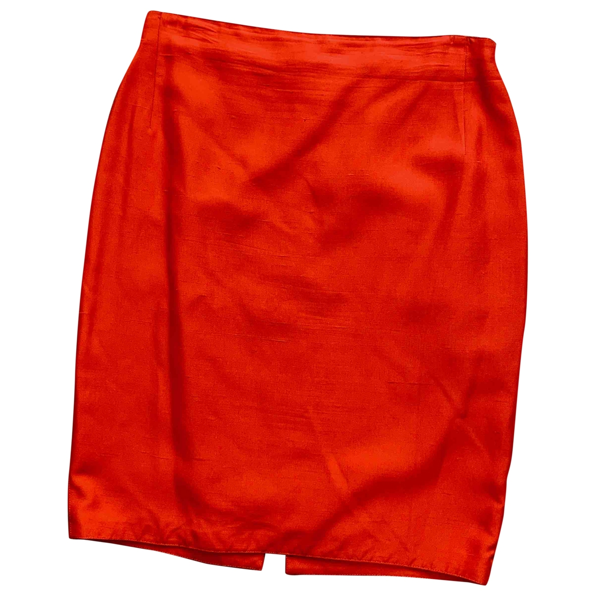 Gianni Versace \N Red Silk skirt for Women 44 IT