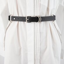 Cinturon con hebilla metalica