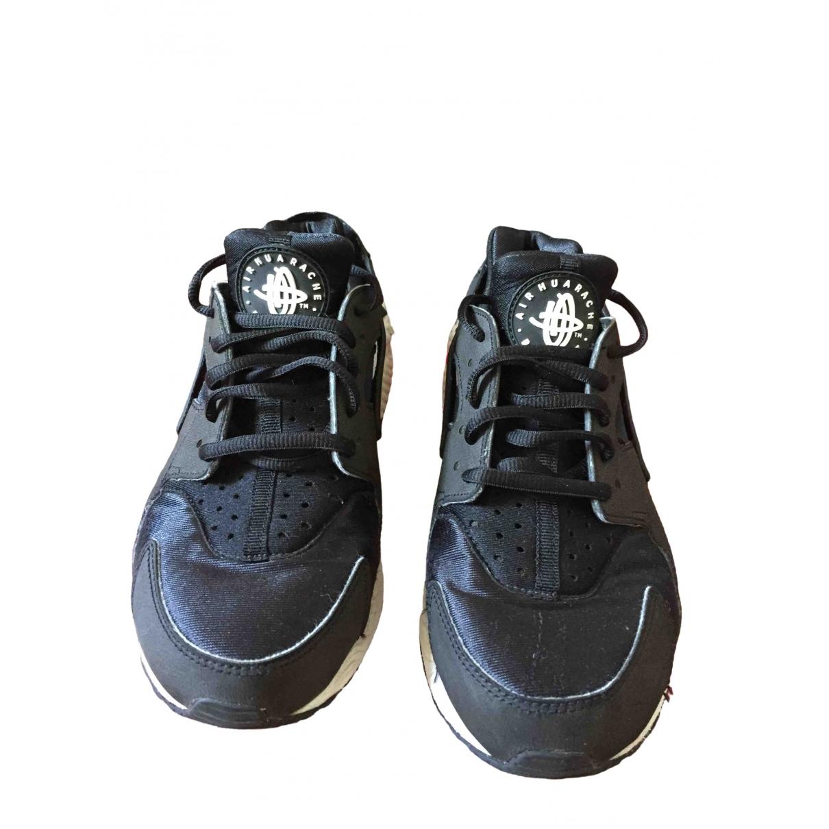 Nike - Baskets Huarache pour femme en toile - noir